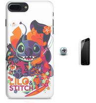 Kit Capa Case TPU iPhone 8 Plus - Lilo Stitch + Pel Vidro (BD30) - Bd cases