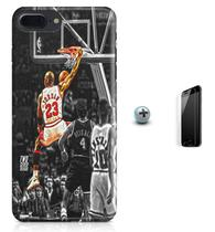Kit Capa Case TPU iPhone 8 Plus - Michael Jordan 23 Basquete + Pel Vidro (BD01) - Bd cases
