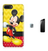 Kit Capa Case TPU iPhone 8 Plus - Mickey + Pel Vidro (BD01) - Bd cases