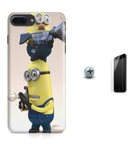 Kit Capa Case TPU iPhone 8 Plus - Minions + Pel Vidro (BD01) - Bd cases
