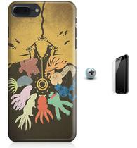 Kit Capa Case TPU iPhone 8 Plus - Naruto Bestas de Cauda + Pel Vidro (BD30) - Bd cases