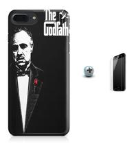 Kit Capa Case TPU iPhone 8 Plus - O Poderoso Chefão The Godfather Marlon Brando + Pel Vidro (BD01) - Bd cases