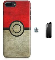 Kit Capa Case TPU iPhone 8 Plus - Pokébola Pokéball + Pel Vidro (BD30) - Bd cases