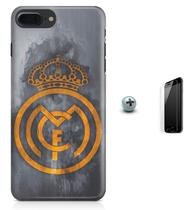Kit Capa Case TPU iPhone 8 Plus - Real Madrid Futebol + Pel Vidro (BD01) - Bd cases