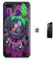 Kit Capa Case TPU iPhone 8 Plus - Rick and Morty + Pel Vidro (BD31) - Bd cases