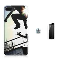 Kit Capa Case TPU iPhone 8 Plus - Skate + Pel Vidro (BD01) - Bd cases