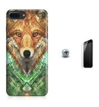 Kit Capa Case TPU iPhone 8 Plus - Wolf + Pel Vidro (BD01) - Bd cases