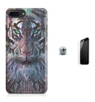 Kit Capa Case TPU iPhone 8 Plus - Wolf + Pel Vidro (BD02) - Bd cases