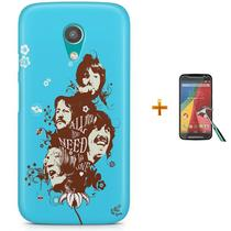 Kit Capa Case TPU Moto G2 XT1078/XT1079/XT1069/XT1068 Beatles + Pel Vidro (BD01) - Bd cases