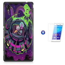 Kit Capa Case TPU Xperia M4 Aqua - Rick And Morty + Pel Vidro (BD01) - Bd cases