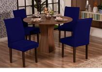 Kit Capa De Cadeira 06 Unidades Malha Gel - Azul Marinho - Rulidry
