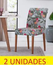 Kit capa de cadeira malha gel tropical 2 peças adomes -