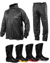 Kit Capa de Chuva Delta Flex + Bota Motosafe PVC Motociclista - Delta + Motosafe