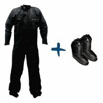 Kit capa de chuva serrana masculina + polaina - Protercapas