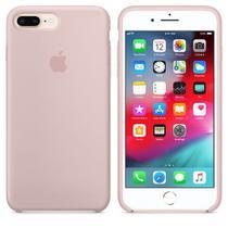 Kit Capa de silicone para iPhone 8 Plus / 7 Plus  Areia Rosa + Película de Vidro - Pop Shop
