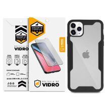 Kit Capa Dual Shock e Película Vidro Dupla para iPhone 11 Pro - Gshield - Apple