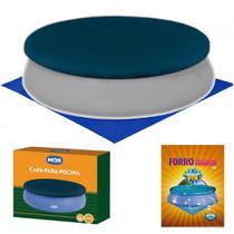 Kit Capa e Forro para Piscina 3,30m de Diametro Ideal para Piscina 4600 Litros Mor -