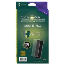 Kit Capa e Película De Gel Para Samsung Galaxy Curves Pro HPrime -