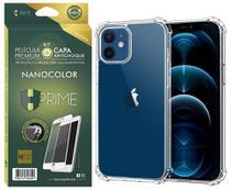 Kit Capa E Película Nanocolor Hprime iPhone 12 E 12 Pro 6.1 -