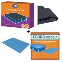 Kit Capa + Forro Para Piscina De 1500 Litros Mor -