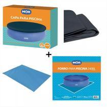 Kit Capa + Forro Para Piscina De 2400 Litros - Mor