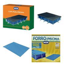 Kit Capa + Forro Para Piscina Premium 5000 Litros - Mor -