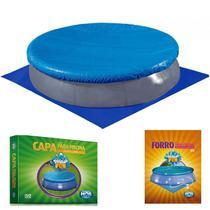 Kit Capa + Forro para Piscina Redonda Inflavel 2400 L 2.60m de Diametro  Mor -