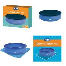 Kit Capa + Forro Para Piscina Splash Fun 2400 Litros - Mor -
