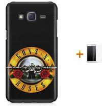 Kit Capa  Galaxy J7 2016 Guns n' Roses + Pel  (BD01) - Bd Cases