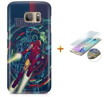 Kit Capa Galaxy S7 Edge Iron Man +Pel Vidro BD30 - Bd cases