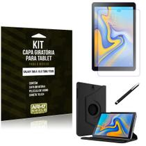 Kit Capa Giratória Galaxy Tab A 10.5 T590/T595 Capa Giratória + Película de Vidro + Caneta Touch - Armyshield -