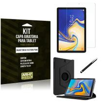 Kit Capa Giratória Galaxy Tab S4 10.5 T835/T830 Capa Giratória + Película de Vidro + Caneta Touch - Armyshield -