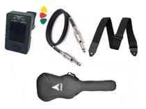 Kit Capa Guitarra/Viola Cinturada Afinador Clip Correia Cabo Palheta - Phx