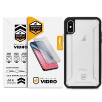 Kit Capa Hybrid e Película de Vidro Dupla para iPhone X e iPhone XS - Gshield - Gorila Shield
