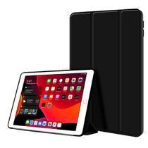 Kit Capa Ipad 8 8ª Geração 2020 Tela 10.2 Smart Aveludada Anti Impacto High Premium Preta + Pelicula - Extreme Cover