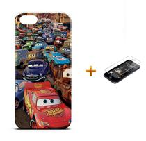 Kit Capa iPhone 5/5S Carros +Pel.Vidro BD1 - Bd cases