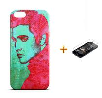 Kit Capa iPhone 5/5S Elvis Presley +Pel.Vidro BD1 - Bd cases