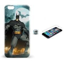 Kit Capa iPhone 6/6S Batman +Pel.Vidro BD1 - Bd cases