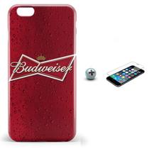 Kit Capa iPhone 6/6S Budweiser Beer + Pel Vidro (BD30) - Bd cases