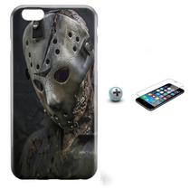 Kit Capa iPhone 6/6S Jason Voorhees + Pel Vidro (BD30) - Bd cases