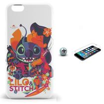 Kit Capa iPhone 6/6S Lilo Stitch + Pel Vidro (BD30) - Bd cases