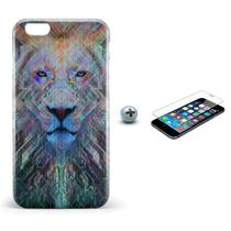Kit Capa iPhone 6/6S Lion +Pel.Vidro BD1 - Bd cases