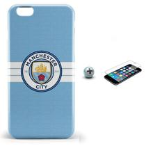 Kit Capa iPhone 6/6S Manchester City + Pel Vidro (BD30) - Bd cases