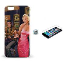 Kit Capa iPhone 6/6S Marilyn Monroe +Pel.Vidro BD1 - Bd cases