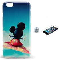 Kit Capa iPhone 6/6S Mickey + Pel Vidro BD2 - Bd cases