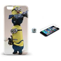 Kit Capa iPhone 6/6S Minions +Pel.Vidro BD1 - Bd cases