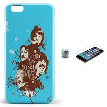 Kit Capa iPhone 6/6S Plus Beatles + Pel Vidro BD1 - Bd cases