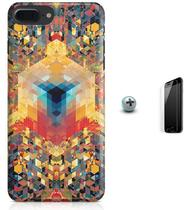 Kit Capa iPhone 7 Plus - Arte Geométrica + Pel Vidro (BD50) - Bd cases