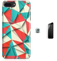 Kit Capa iPhone 7 Plus - Arte Poligonal + Pel Vidro (BD56) - Bd cases
