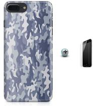 Kit Capa iPhone 7 Plus - Camuflagem + Pel Vidro (BD53) - Bd cases